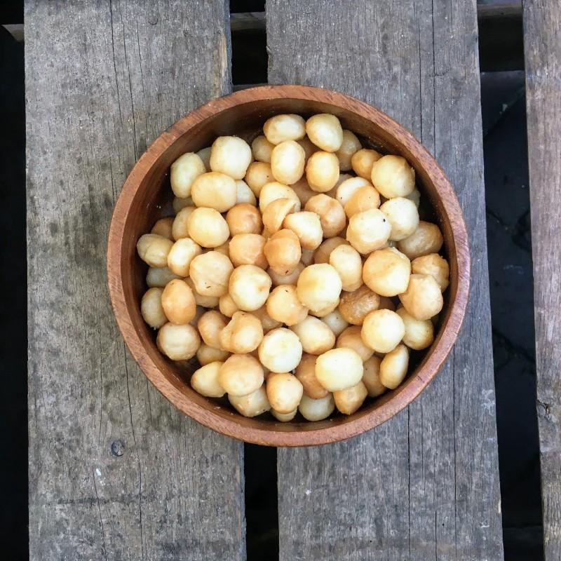Gebrande Noten Gebrande macadamia's ongezouten Verse gezonde noten