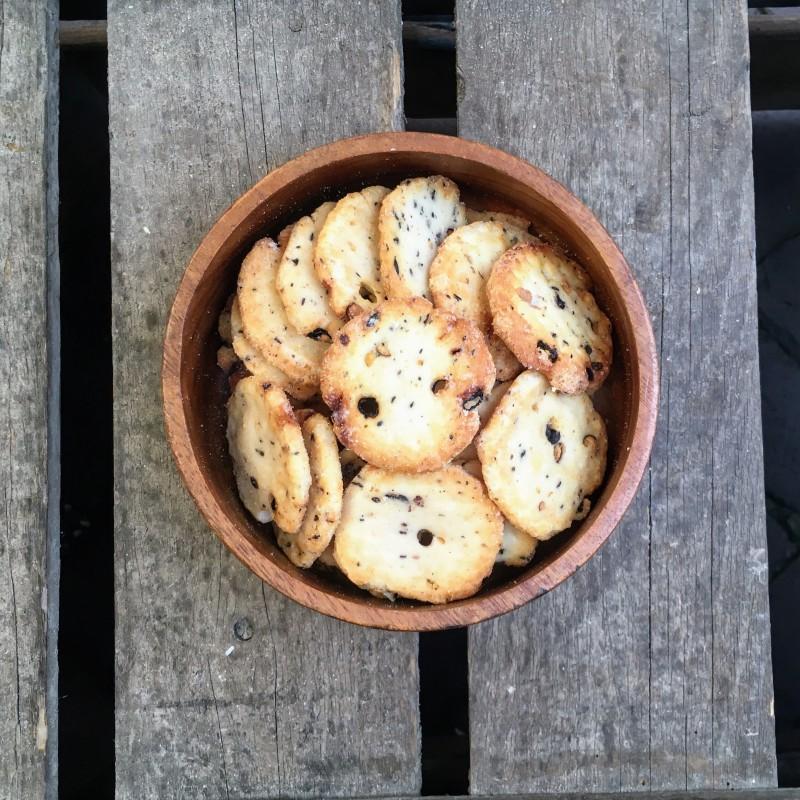 Rijstcrackers Sojaboon rijstcracker Verse gezonde noten