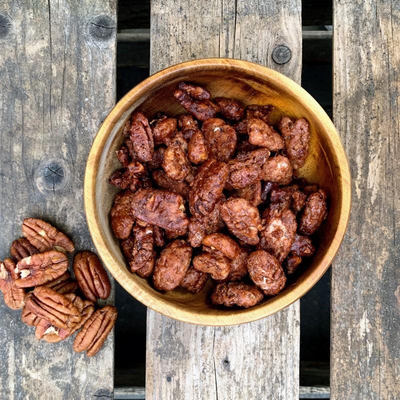 Zoete pecannoten Verse gesuikerde pecannoten Verse gezonde noten
