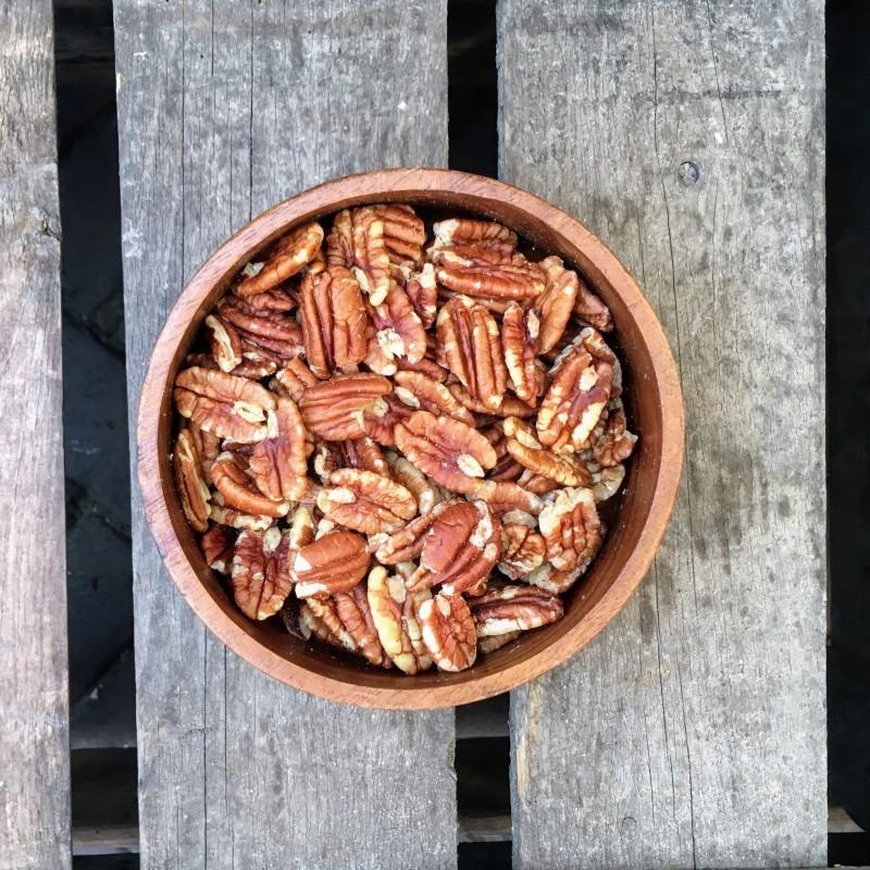 Pecannoten Gebrande pecannoten gezouten Verse gezonde noten
