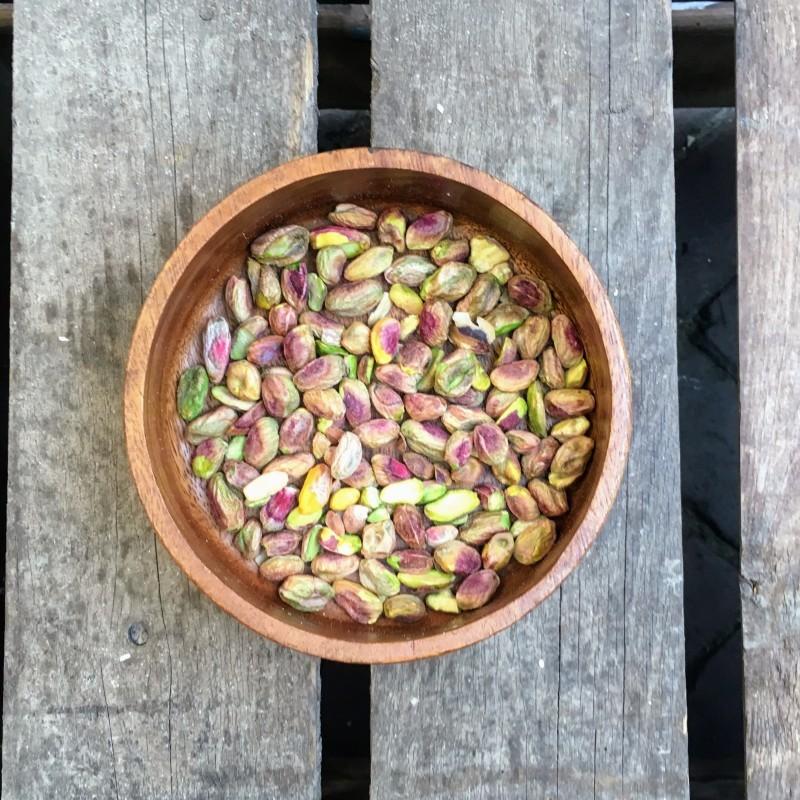 Pistachenoten Ongebrande gepelde pistachenoten Verse gezonde noten