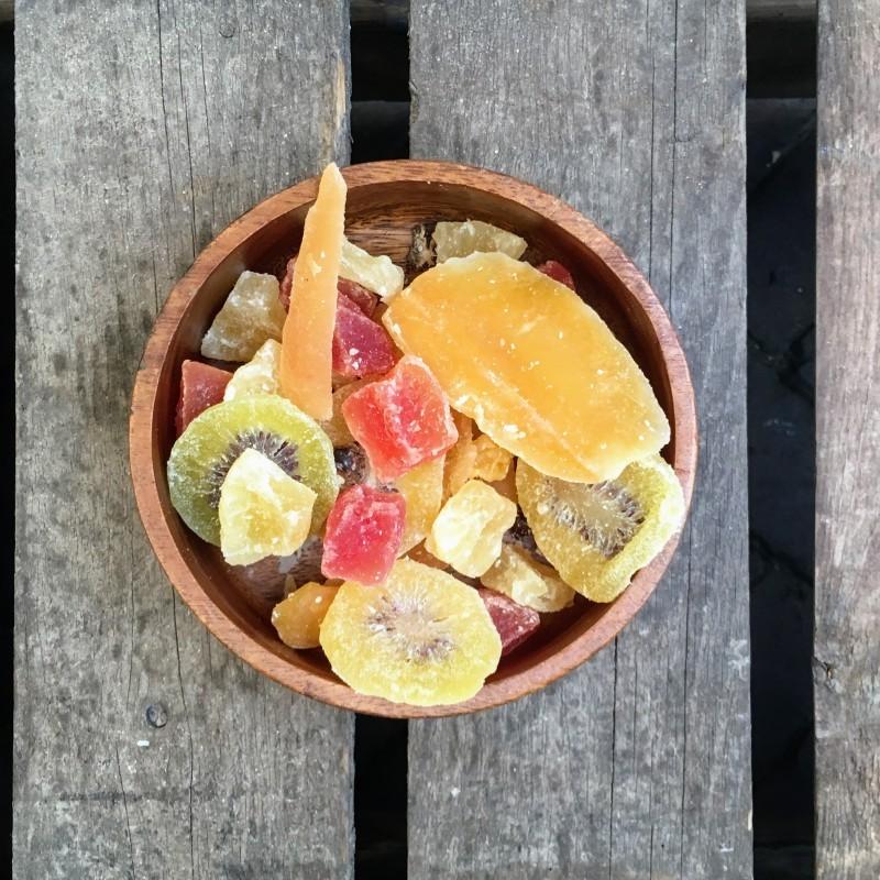 Tropische zuidvruchtenmix Grof Fruitmix Verse gezonde noten