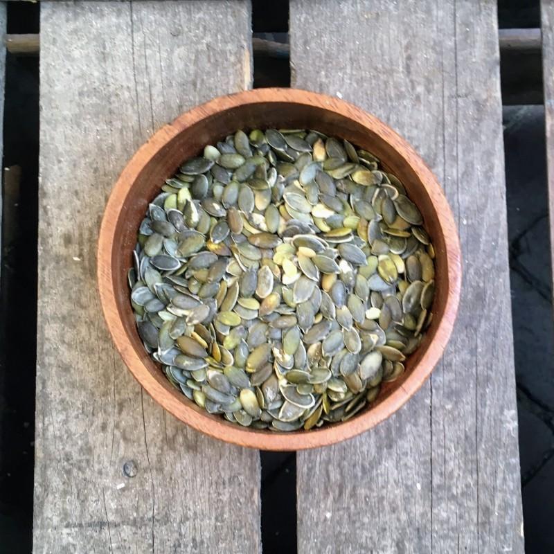 Zaden en pitten Pompoenpitten (pepita) Verse gezonde noten