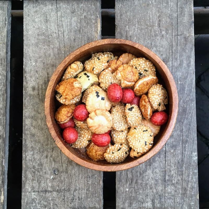 Rijstcrackers Japanse Bollenmix Verse gezonde noten