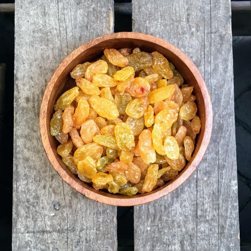 Rozijnen Grote gele rozijnen Verse gezonde noten